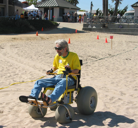 Hotshot Wheelchairs On The Beach Rolling Rains Report