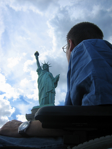 Guy M Fisher at Statue of Liberty