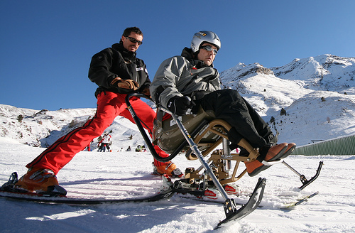 adapted skiing - foto by Pablo Fausto