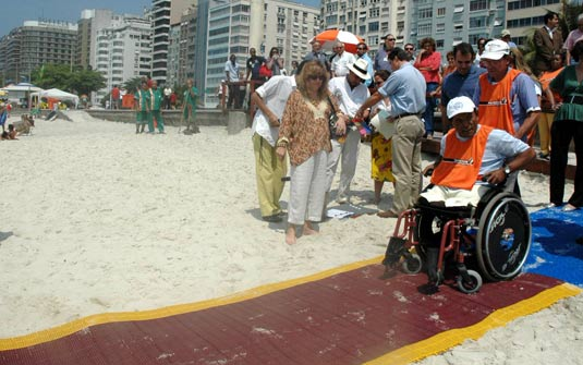 copacabana beach wheelchair mat