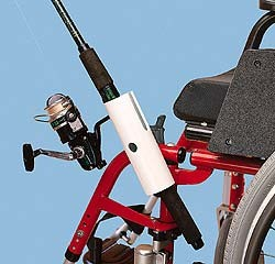 wheelchair fishing pole holder